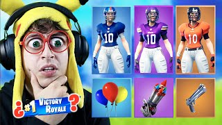 RANDOM NFL **FEMALE SKIN** CHALLENGE at Fortnite Battle Royale! (New football skins)