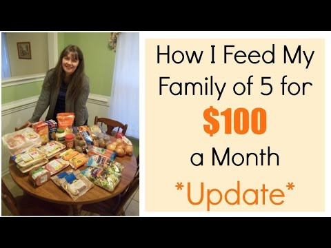 How I Feed My Family of 5 For $100 a Month Update
