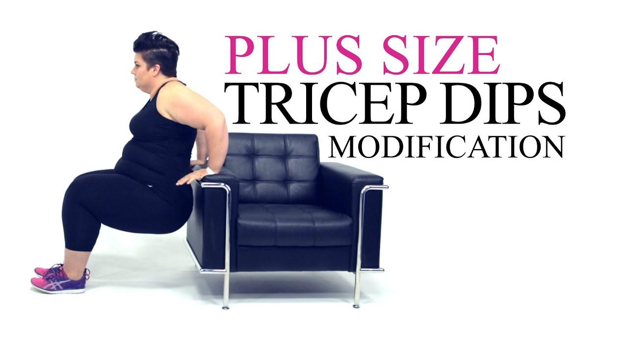 Tricep Dip Exercise Modification plus size workout episode