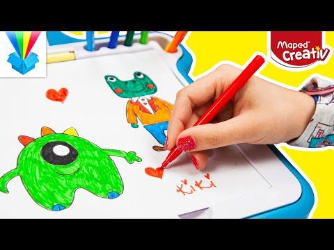 Kicsomi - 🦄 Kiki 🦄: 🎁 Maped Creativ Lumi Board kreatív rajzkészlet 😏✍️❤️