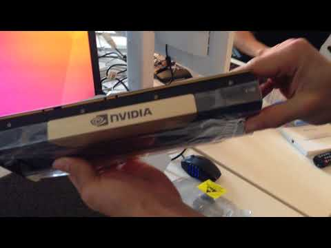 Unboxing Tesla V100 (M) - Developer Preview after won Deep Berlin NVIDIA