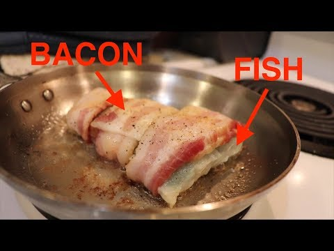 Catch And Cook: Fish Wrapped With BACON (Surprisingly Amazing!)
