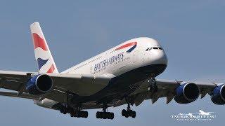 【4K/60P】British Airways Airbus A380 @Heathrow Airport