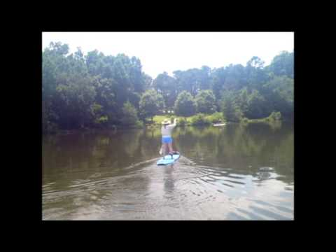 Stand Up Paddle Boarding At Sandy Creek Park Athens