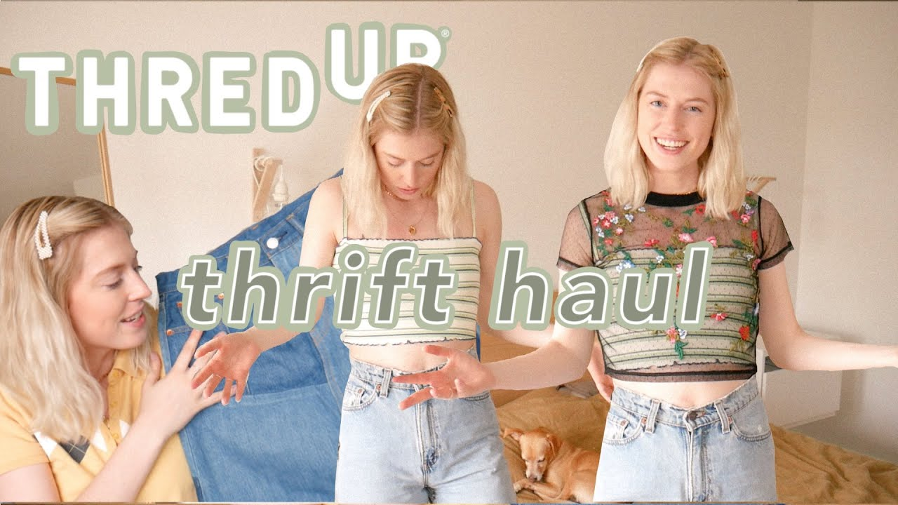 ANOTHER thrift haul from THREDUP | I forgot I ordered this haul so it's a MYSTERY BOX... kinda