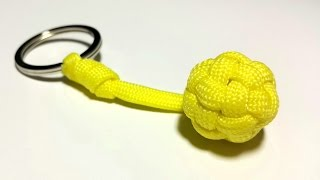 Unique and easiest way to make a Globe Knot Key Fob. UNCUT. [ by ParacordKnots]