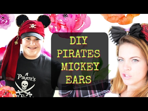 DIY Pirates Of The Caribbean Mickey Hat Ears