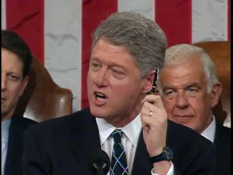 Clinton Uses Veto Threat on Health Care Bill