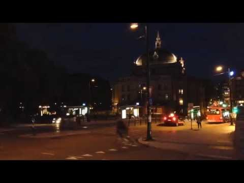 Oslo. The National Theater. Time lapse