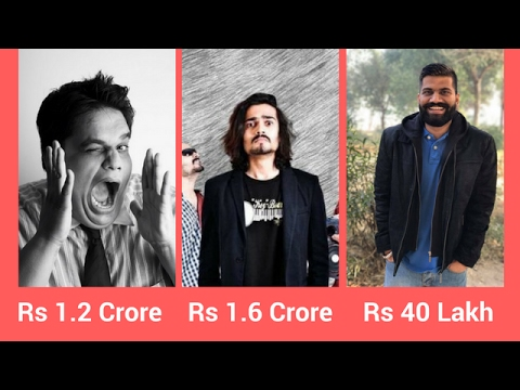 Earnings of 10 Famous Indian Youtubers (Monthly and Net Earnings)
