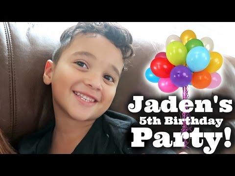 Vlog: Jaden's 5th Birthday Party