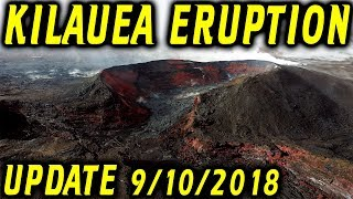 NEWS UPDATE Hawaii Kilauea Eruption Hurricane Olivia Report for 9/10/2018