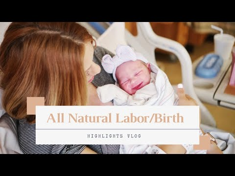 Natural Labor and Delivery | Natural Childbirth | Having Baby #3 | Emotional Live Birth