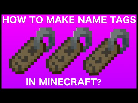 How To Make A Name Tag In Minecraft Youtube