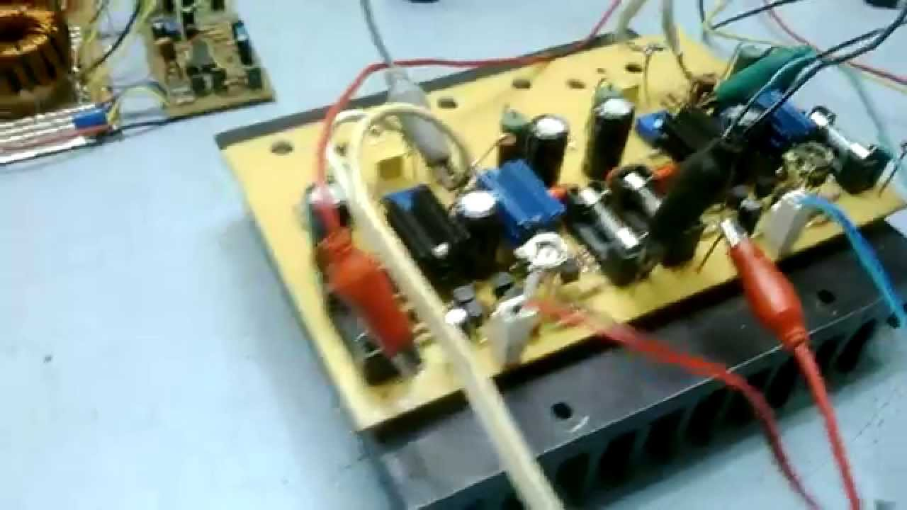 Testing My Diy Nmos200 Mosfet Power Amplifier Irfp460 Dc Amp Converter 42 Volts Youtube