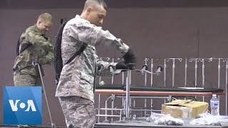 California National Guard Helps Set Up Field Hospital