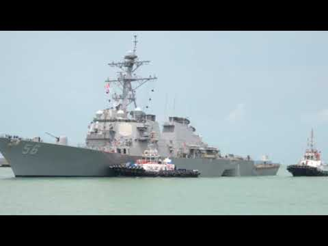 Chief of Naval Operations addresses USS John S. McCain search and rescue