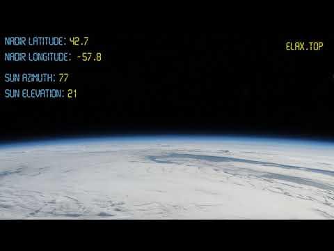 Полет вокруг Земли за 5 минут! Вид со спутника на горизонт! Реальная видеосъёмка! FullHD!