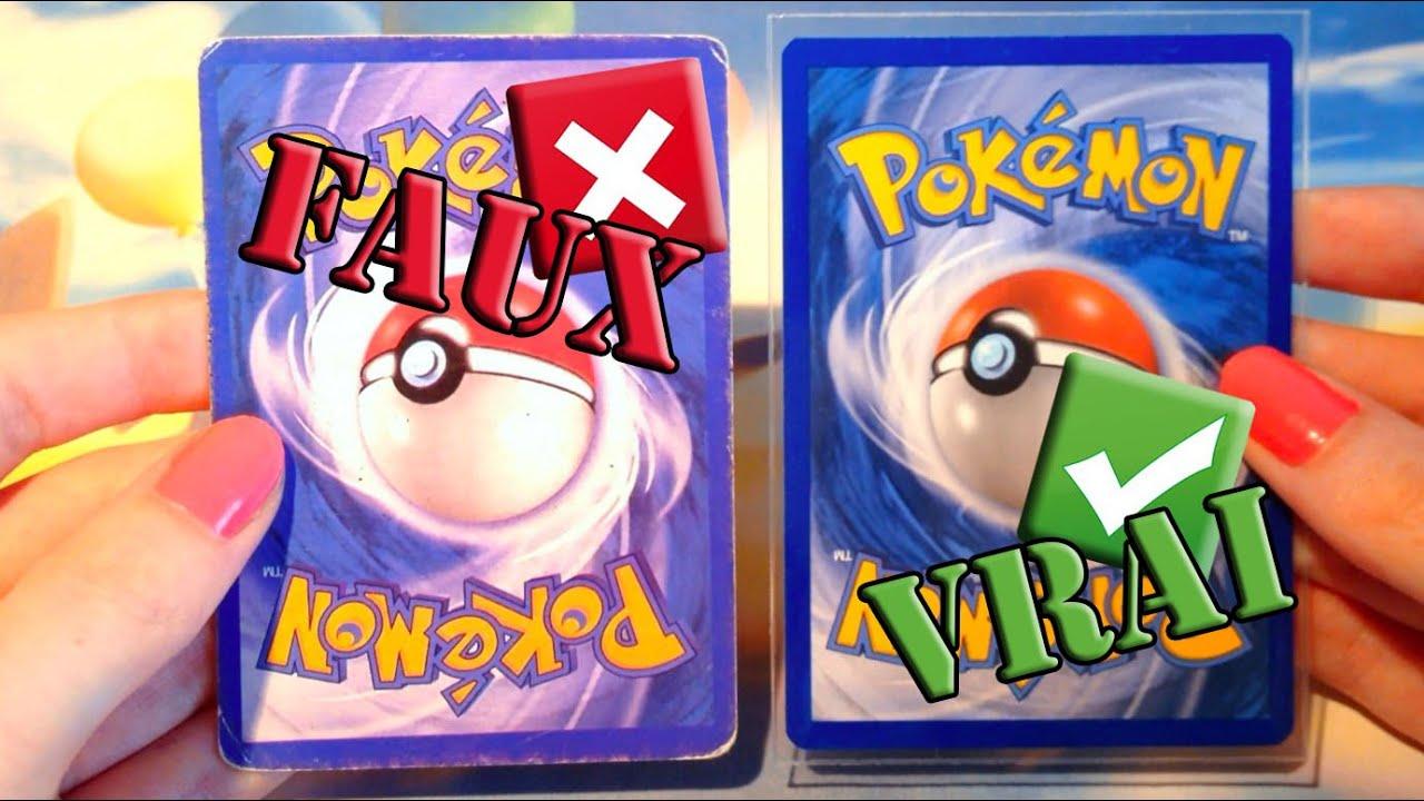 Comment reconnaitre une fausse carte pok mon dissocier - La plus forte carte pokemon du monde ...