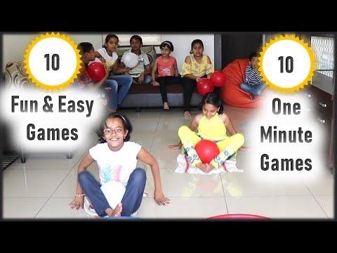 10 Indoor Activities for kids | Fun Indoor games for kids | Minute to Win It Games for kids & Party