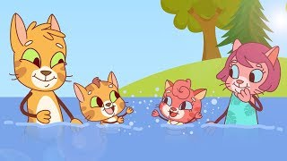 Cat Family | Cartoon for Kids | New Full Episodes #41 - Last Day of Summer