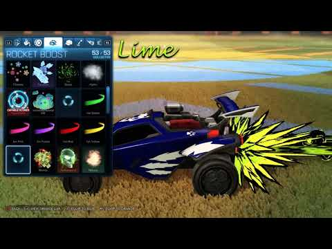 Rocket League All Toon Sketch Painted Boost Reupload Youtube