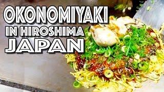 Okonomiaki お好み焼き in Hiroshima, Japan