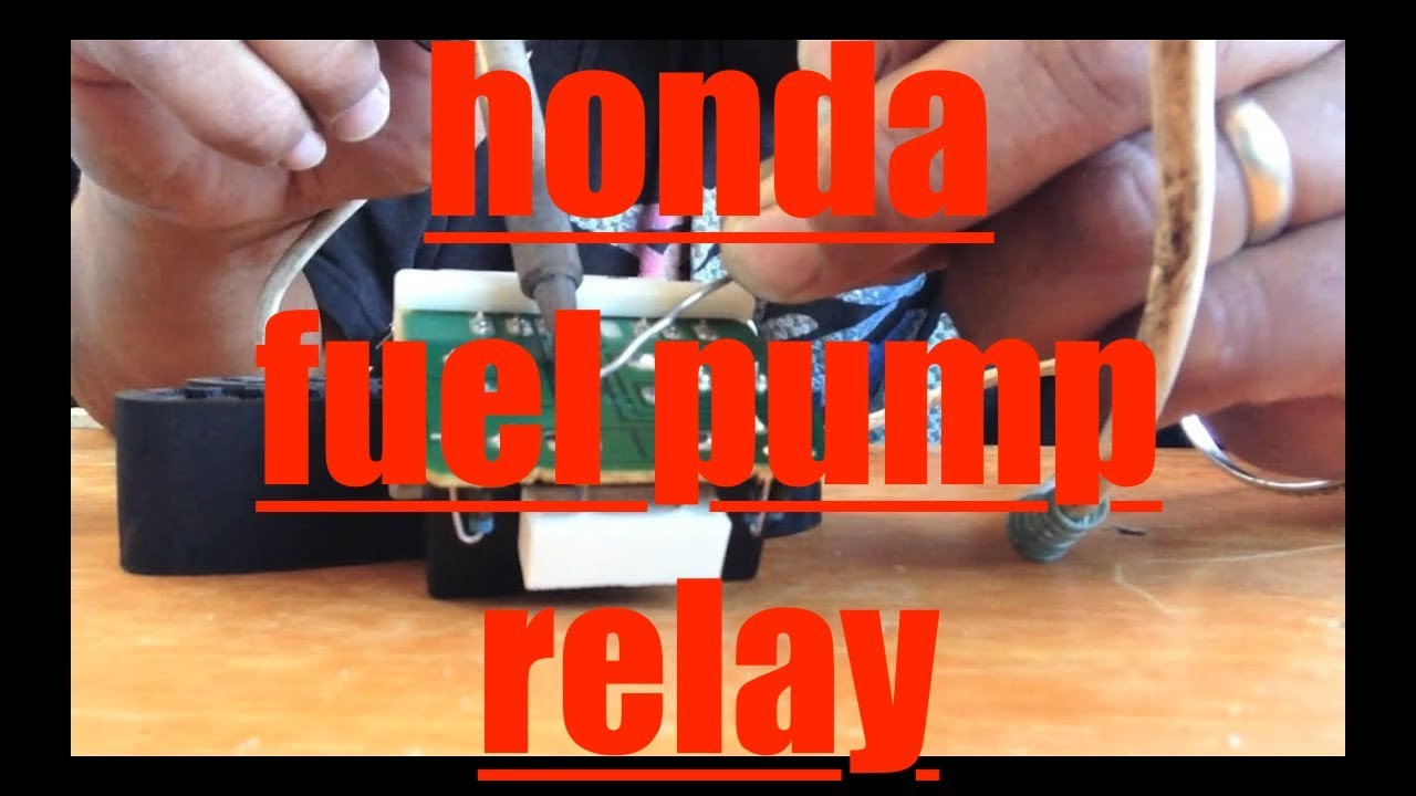 Honda Odyssey No Start Replace Repair Fuel Pump Relay Fix It Angel Em1 Civic Si Engine Diagram Youtube