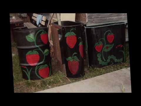 Расписные бочки для воды    Декор для вашего сада