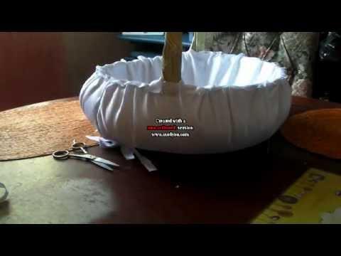 Como forrar una canasta youtube - Como forrar una cesta de mimbre ...