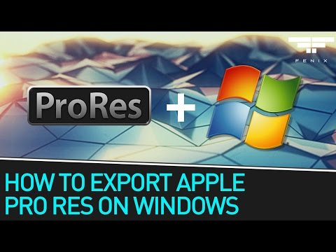 How to Export Apple Pro Res on a PC Using Windows
