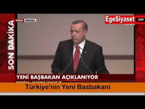 Türkiye'nin Yeni Başbakanı Davutoğlu
