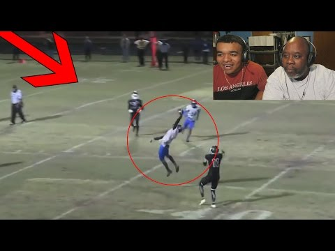 Dad Reacts to INSANE HIGH SCHOOL FOOTBALL PLAYS!