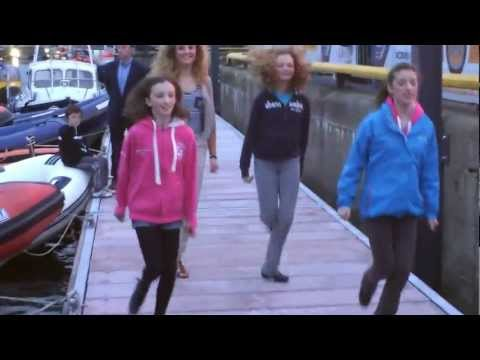 Irish Dancers give impromptu performance on the Marina at Volvo Ocean Race in Galway