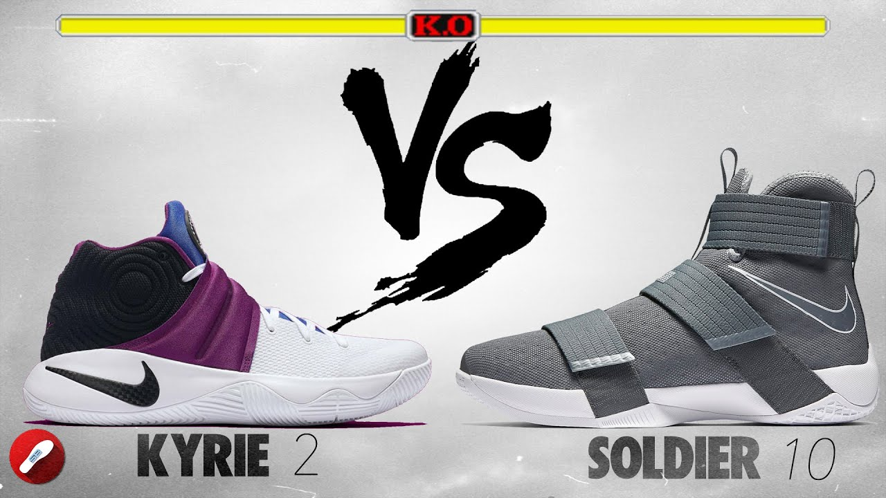 new product 0ee92 1a4bc Nike Kyrie 2 vs Nike Lebron Soldier 10!
