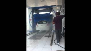Carwash at First Automatic Wash Tec service station in Punjab near Sirhind McD