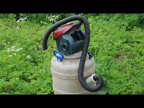 Homemade vacuum cleaner for the carpenter 39 s shop youtube for Diy pond cleaner