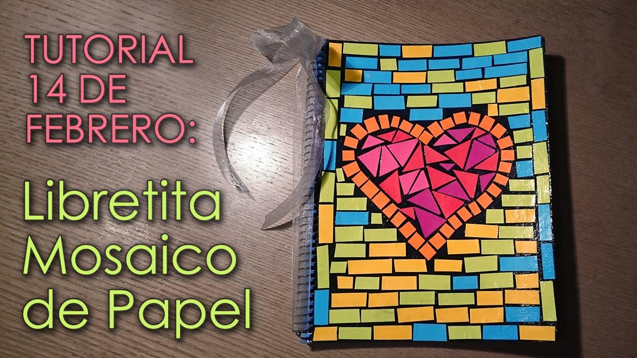 tutorial libretita mosaico de papel manualidades 14 de On como hacer cuadros de mosaicos