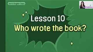 초등 6학년 영어 천재(함) 10단원 Who wrote…