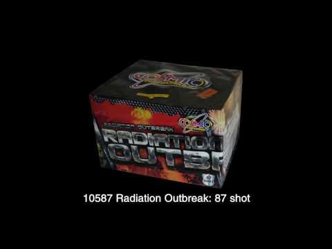 Cosmic Fireworks Radiation Outbreak 96 Shot Barrage Firework Display - £60 At Middleton Fireworks