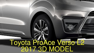 3D Model of Toyota ProAce Verso L2 2017 Review