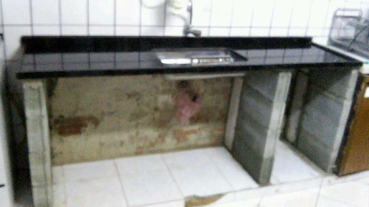 02 gabinete de alvenaria da cozinha desde o inicio 02 for Cocinas de mamposteria
