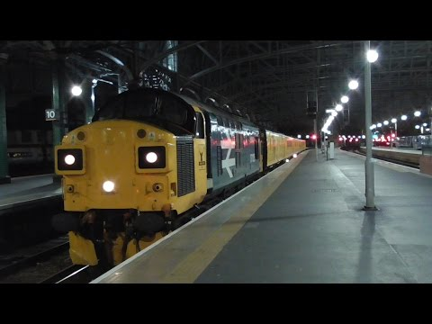 BR *BEAST* 37025: 3Q76 Test Train to Carlisle Wapping Sidings | Paisley & Glasgow (17/11/16)