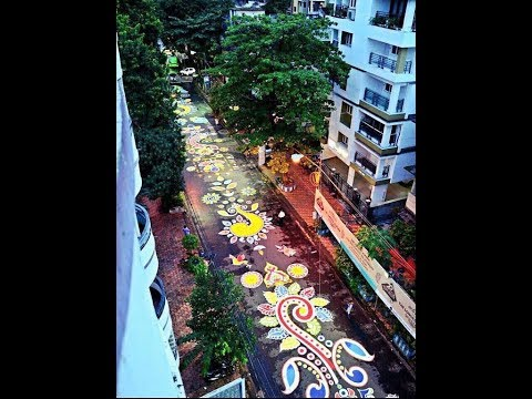 Durga Puja 2017: Longest Alpana or Rangoli makes Kolkata's puja more beautiful