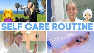 MY SELF CARE ROUTINE! *Gym, Sauna, Haircare, Floatation Tank* (VLOG)