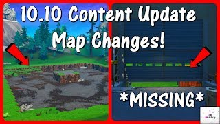*NEW* 10.10 Content Update MAP CHANGES! (v10.10 Patch) | Fortnite