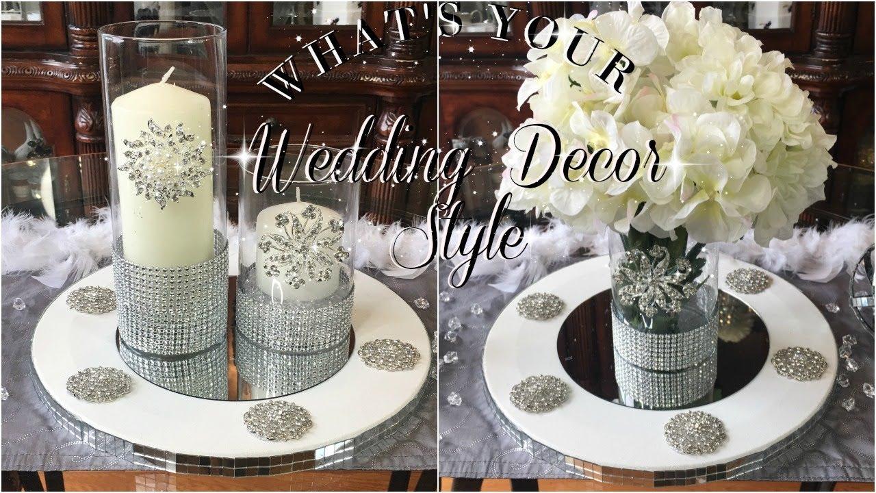 Diy Dollar Store Wedding Table Centerpieces Decor 3 Styles Youtube