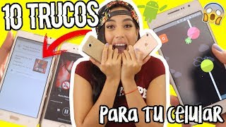 10 TRUCOS SECRETOS en tu celular #3 ANDROID Y IPHONE! | ClaudipiaaChic