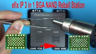 efix IP 3 in 1 NAND BGA Reballing Stations Stencils for iPhone iPad Chip IC Flash Fix Repair Tools