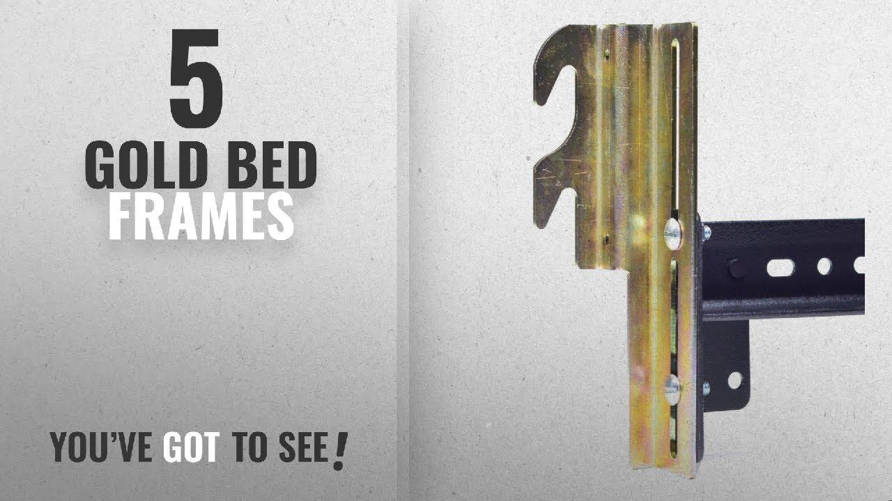 Top 10 Gold Bed Frames [2018]: Hook On Bed Frame Brackets Adapter ...
